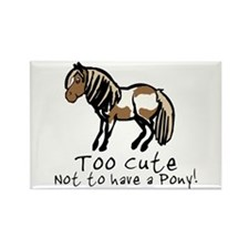 Too Cute Pony Rectangle Magnet