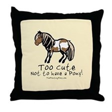 Too Cute Pony Throw Pillow