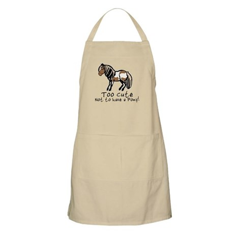 Too Cute Pony BBQ Apron