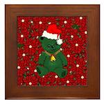 Christmas Bear Framed Tile