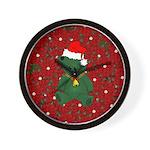 Christmas Bear Wall Clock