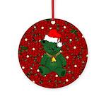 Christmas Bear Ornament (Round)