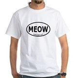 Cat protection Mens White T-shirts