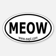 EAPL - Meow Oval Decal