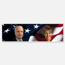 McCain Palin Flag Bumper Bumper Bumper Sticker