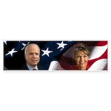 McCain Palin Flag Bumper Bumper Sticker