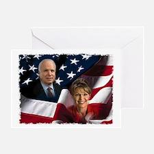 McCain Palin Flag Greeting Card