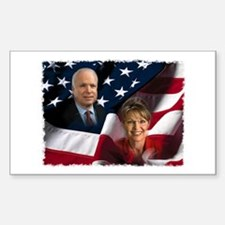 McCain Palin Flag Rectangle Sticker 10 pk)