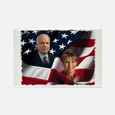 McCain Palin Flag Rectangle Magnet