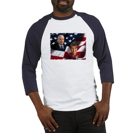 McCain Palin Flag Baseball Jersey