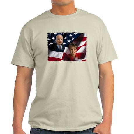 McCain Palin Flag Light T-Shirt