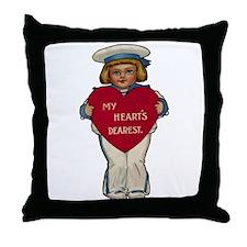 Valentine Sailor Throw Pillow