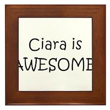 Funny Ciara Framed Tile