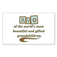 Avo of Gifted Grandchildren Rectangle Decal