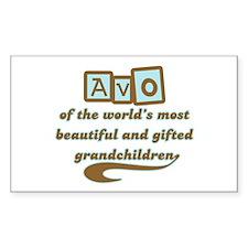 Avo of Gifted Grandchildren Rectangle Decal
