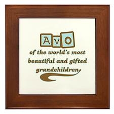 Avo of Gifted Grandchildren Framed Tile