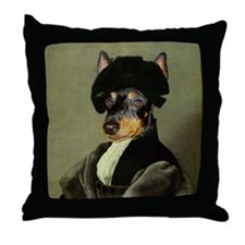 Manchester Terrier RAPHAEL Throw Pillow