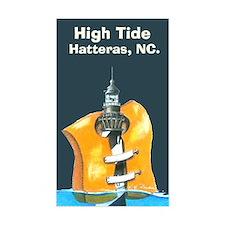 Hatteras Lighthouse Tide Sticker dark (Rectangle)