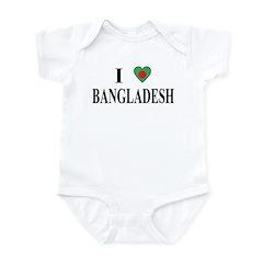 I Love Bangladesh Infant Bodysuit