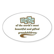 Baba of Gifted Grandchildren Oval Decal