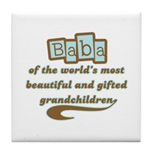 Baba of Gifted Grandchildren Tile Coaster