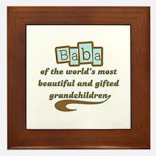 Baba of Gifted Grandchildren Framed Tile