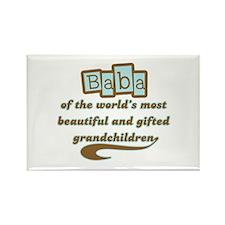 Baba of Gifted Grandchildren Rectangle Magnet