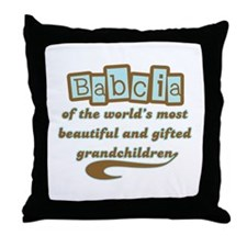 Babcia of Gifted Grandchildren Throw Pillow