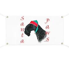 Santa Paws Kerry Blue Banner
