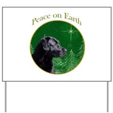 Black Lab Peace Yard Sign