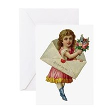Envelope Girl Greeting Card