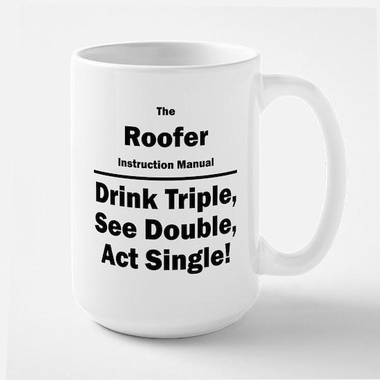Roofer Large Mug