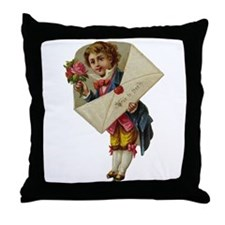 Envelope Boy Throw Pillow