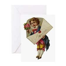 Envelope Boy Greeting Card