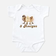 """3 Amigos"" chicks Onesie"