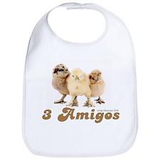"""""""3 Amigos"""" chicks Bib"""