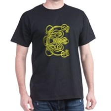 Gold Scroll C - T-Shirt