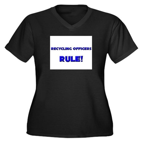 Recycling Officers Rule! Women's Plus Size V-Neck