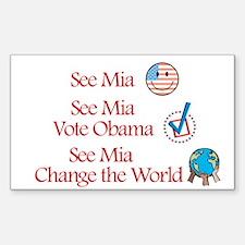 See Mia Vote Obama Rectangle Decal