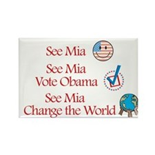 See Mia Vote Obama Rectangle Magnet