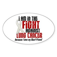 In The Fight 1 LC (Best Friend) Oval Decal