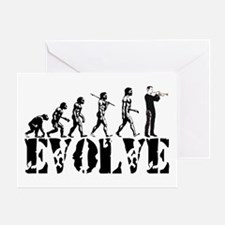 Trumpet Evolution Greeting Card