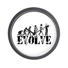 Trumpet Evolution Wall Clock