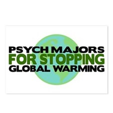 Psych Majors Stop Global Warming Postcards (Packag