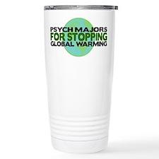Psych Majors Stop Global Warming Travel Mug