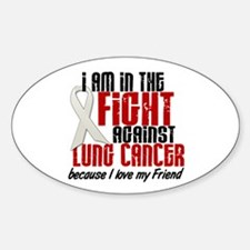 In The Fight 1 LC (Friend) Oval Decal