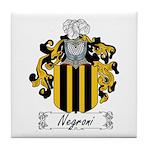 Negroni Family Crest Tile Coaster