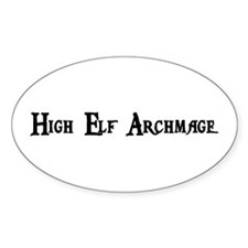 High Elf Archmage Oval Decal