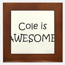Cute Cole Framed Tile