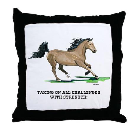 Champion Horse Throw Pillow
